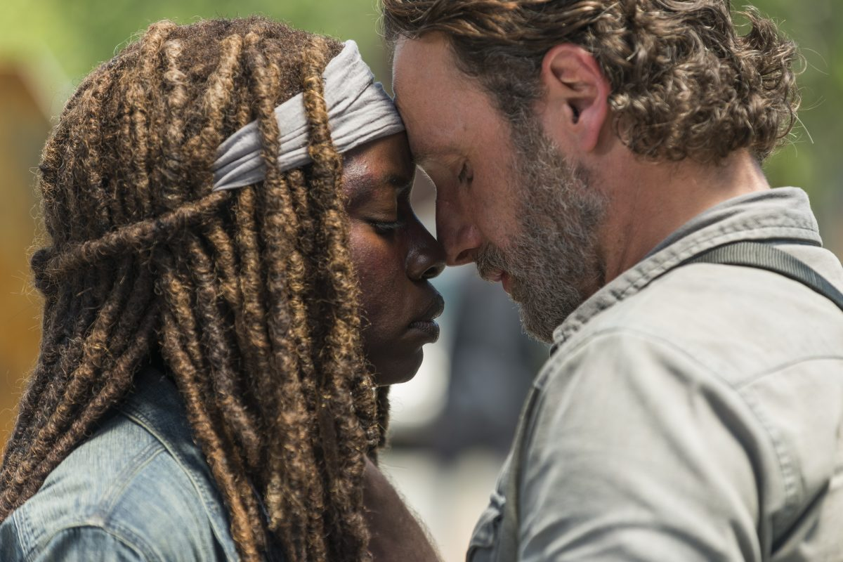 TWD 8x01 Rick and Michonne say goodbye