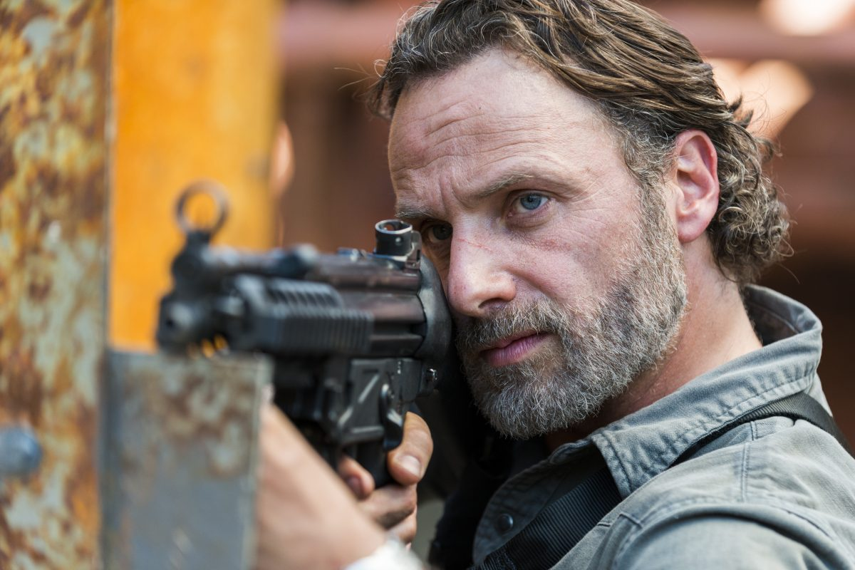 TWD 8x01 Rick is ready to fight