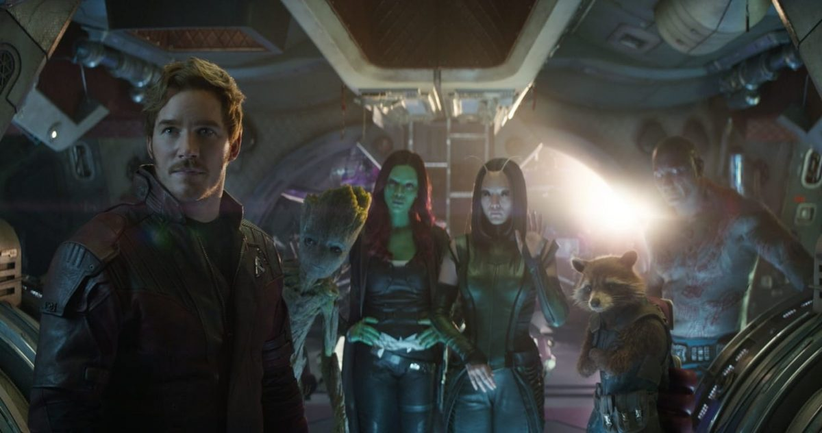 The Guardians in Infinity War