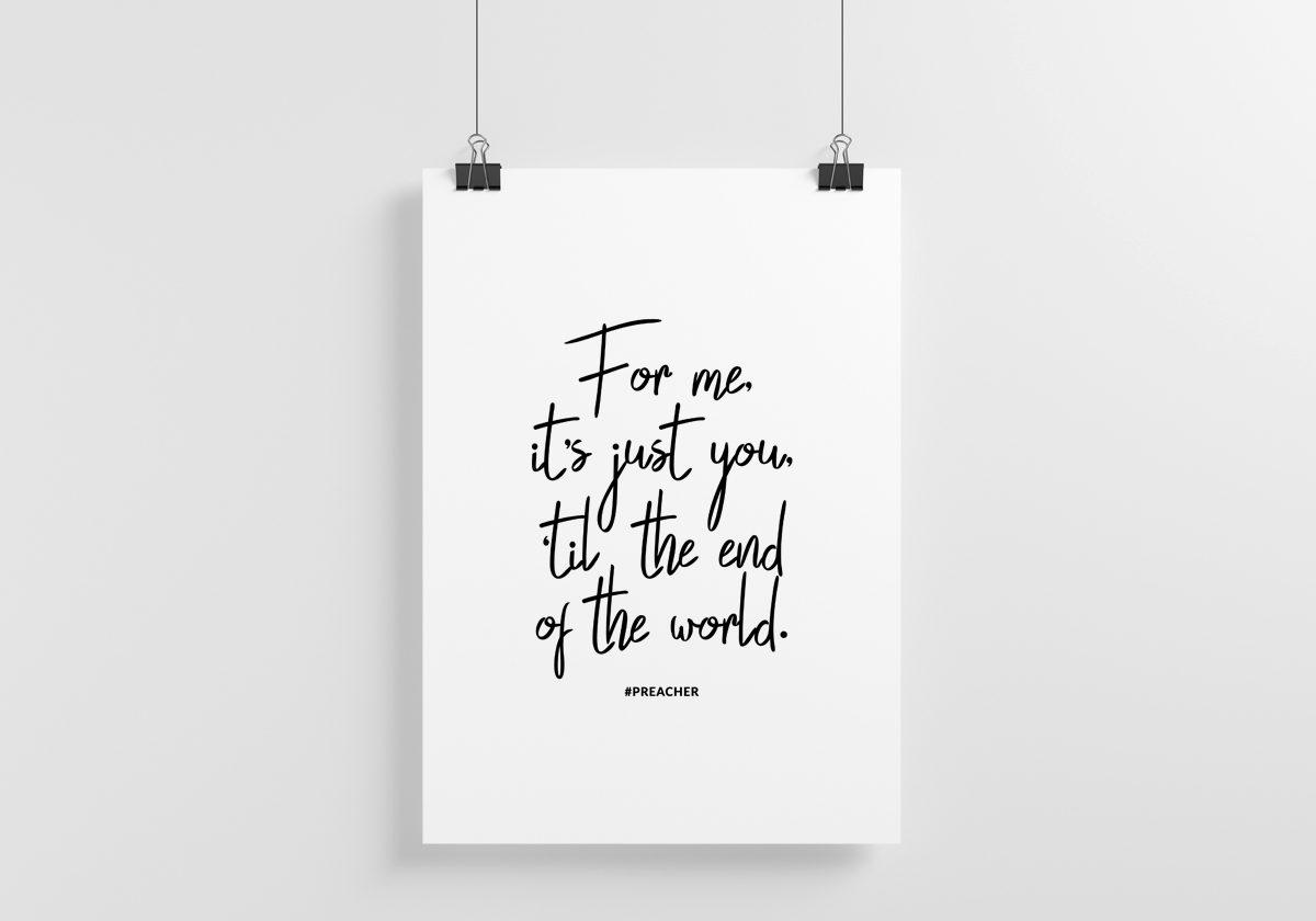 Free Preacher Quote Art Print