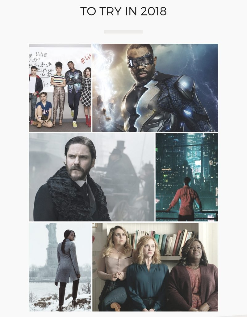 Interesting new shows to start the new year, coming in early 2018! Including Grown-ish, Black Lightning, The Alienist, Altered Carbon, Seven Seconds, and Good Girls