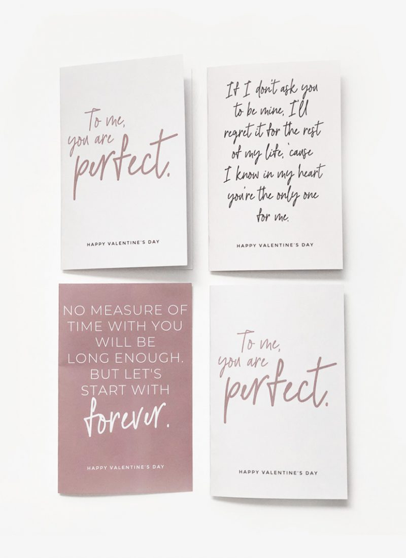 Printable movie quote Valentine's Day Cards