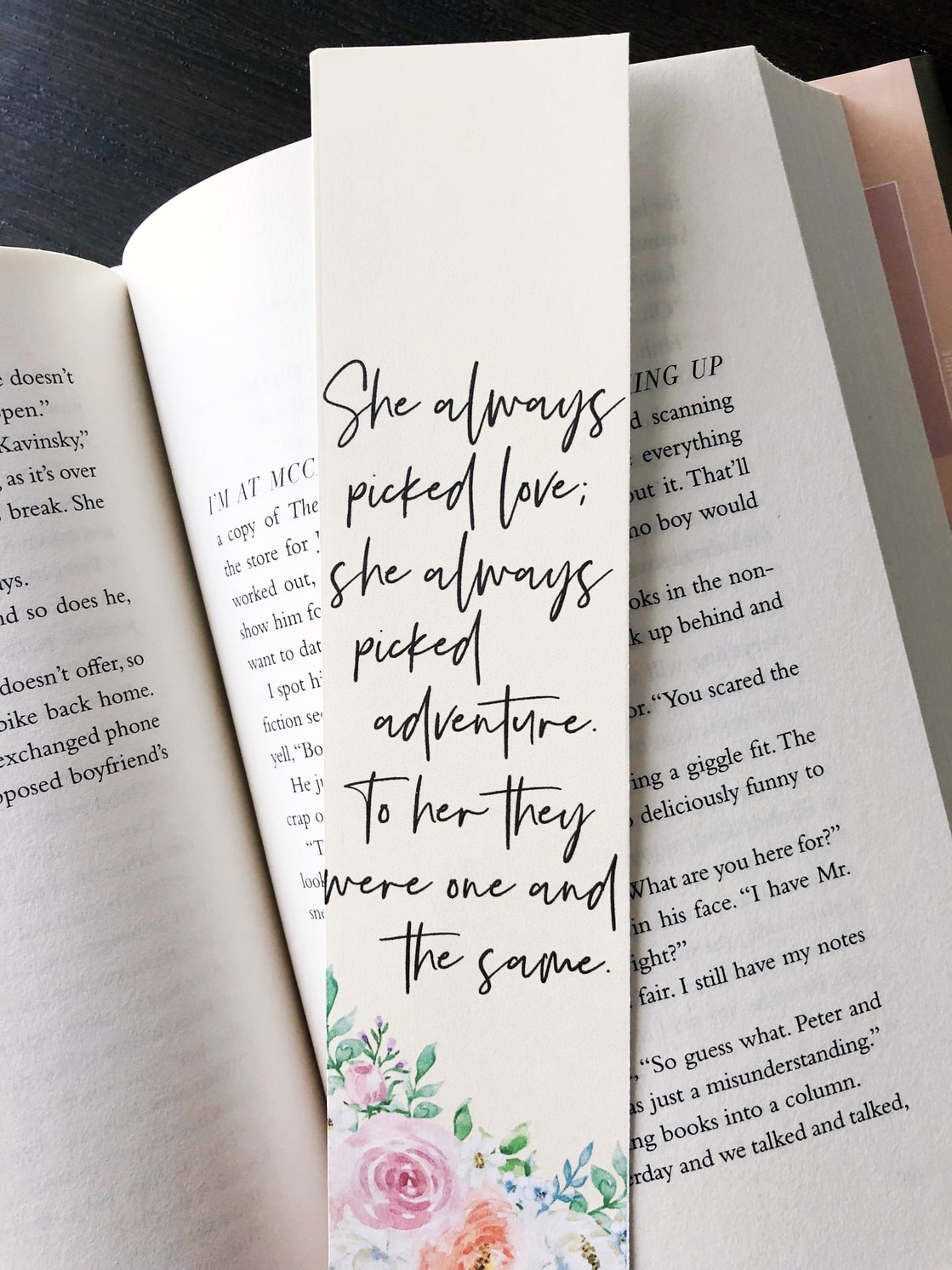 free printable bookmarks featuring quotes from to all the boys i ve