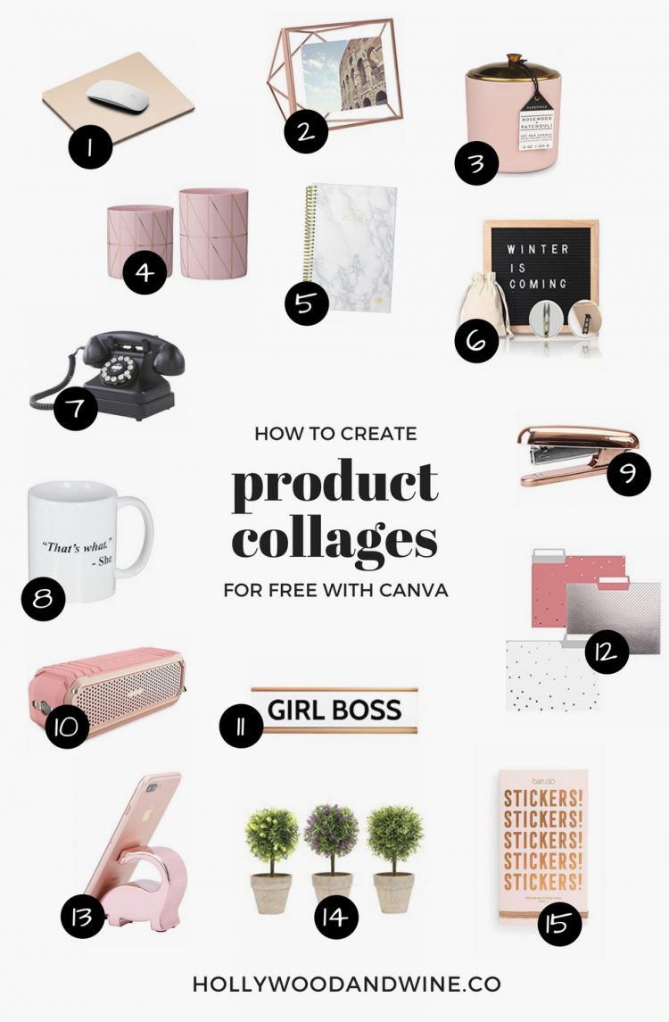 How to create product collages for your blog for free with Canva