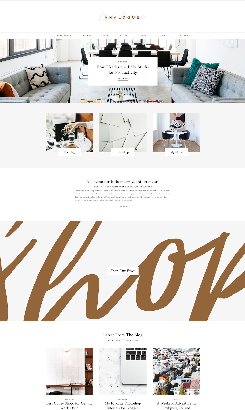 Analogue WordPress theme | The best WordPress themes for bloggers