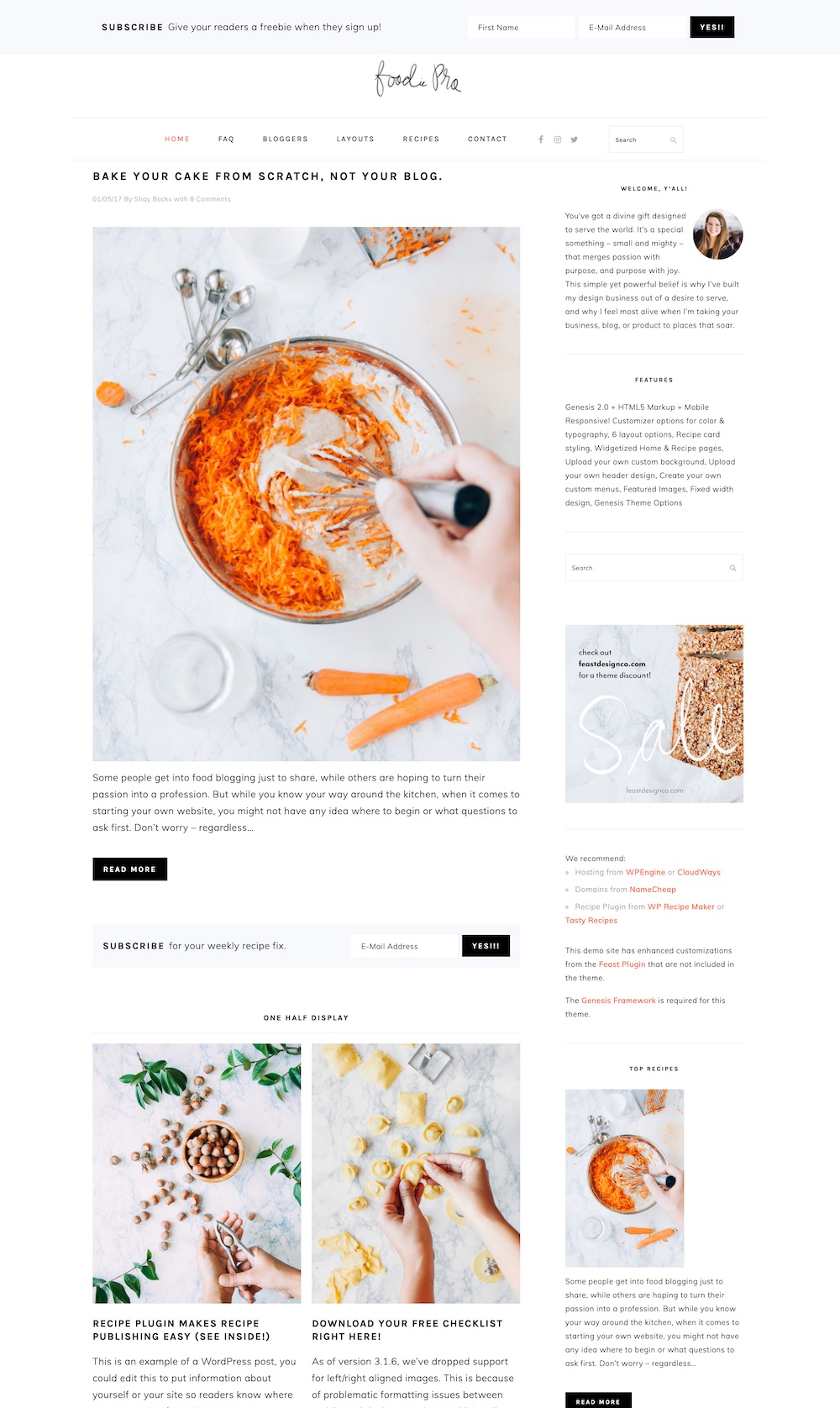 FoodiePro WordPress theme | The best WordPress themes for food bloggers