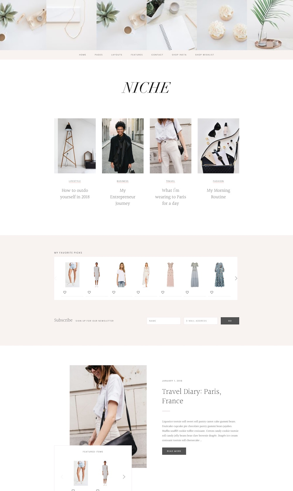 Niche WordPress theme | The best WordPress themes for lifestyle bloggers