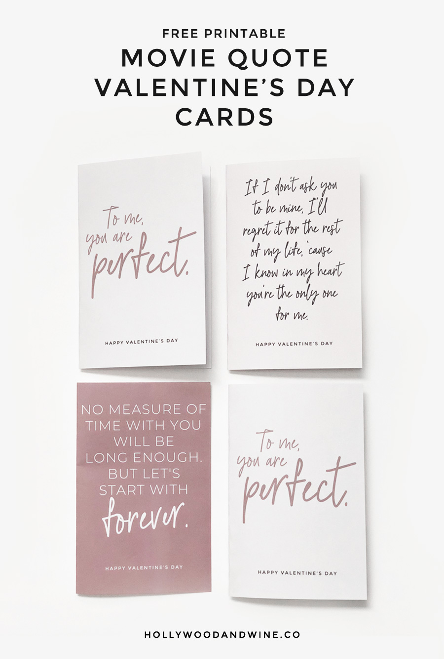 Free movie quote Valentine's Day cards